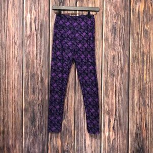 LuLaRoe leggings purple and black